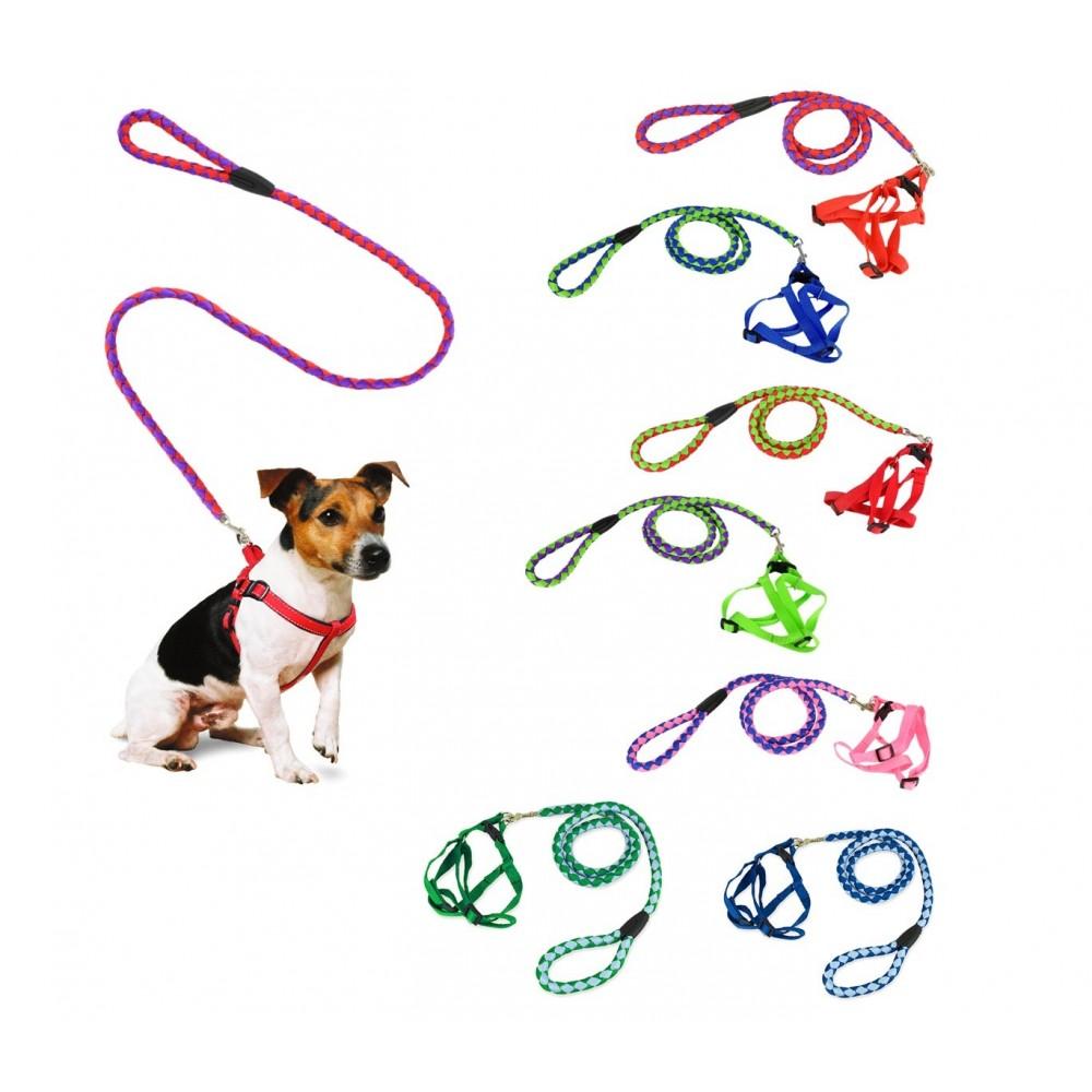 058237 guinzaglio corto 120 cm bicolore con pettorina cani for Marsupio per cani di piccola taglia