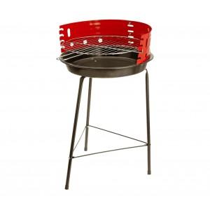 Barbecue tondo 60 x 36 cm 429761 Con griglia di cottura incluso e paravento