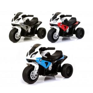 Moto elettrica BMW LT883 per bambini sedile in pelle accensione con chiave