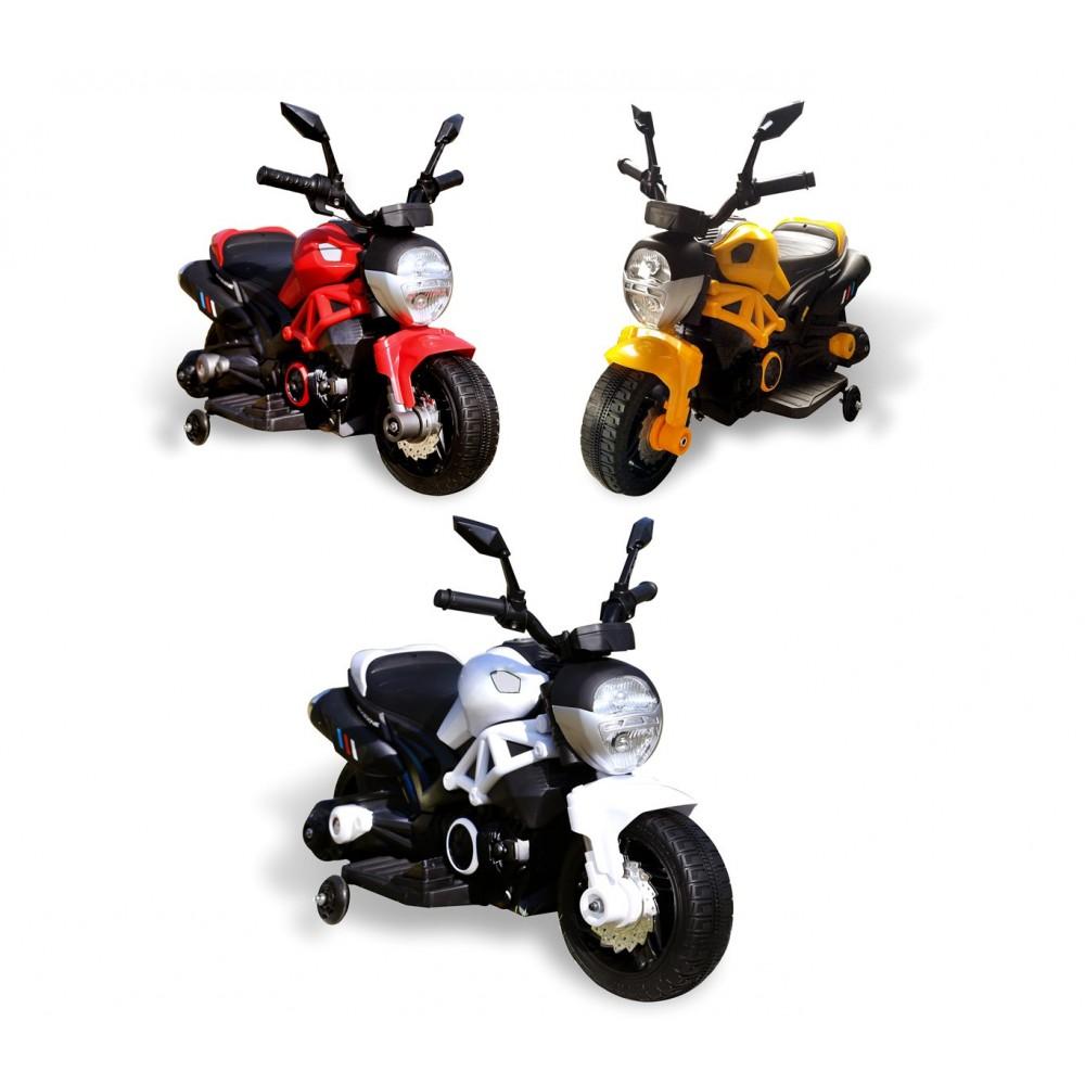Moto elettrica per bambini HUNTER LT885 con rotelle 6V luci led naked