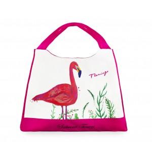 Borsa mare Sabrina Tenori 424117 Flamingo con fasce colorate