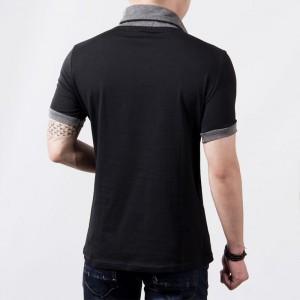T-shirt collo sciallato mod Hals maglia mezza manica colori contrasto  MWS AHEAD