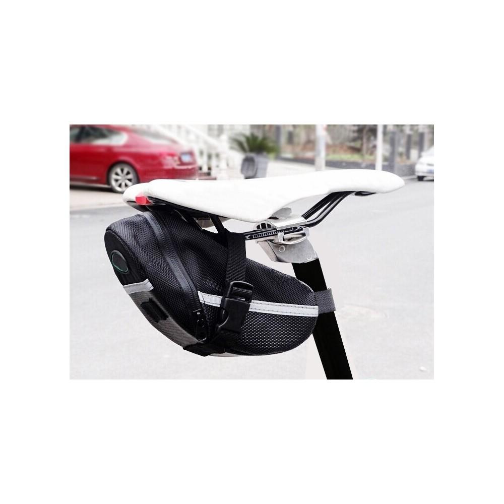 Borsa per sellino bici borsello multitasche bicicletta porta oggetti con moschettone ciclismo