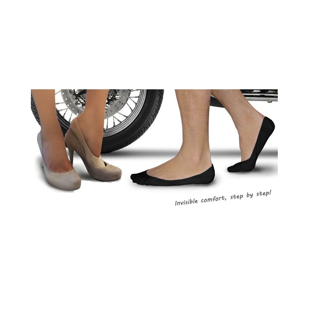 Pack di 12 paia di salvapiedi pedalini in cotone da uomo o da donna fantasmini scollati taglia unica