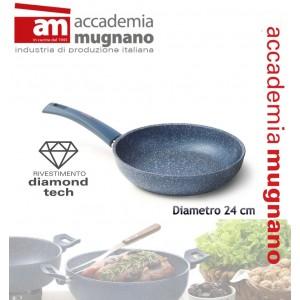 Padella antiaderente 24 cm con rivestimento Diamond Tech effetto pietra Accademia Mugnano Linea GRANITO BLU