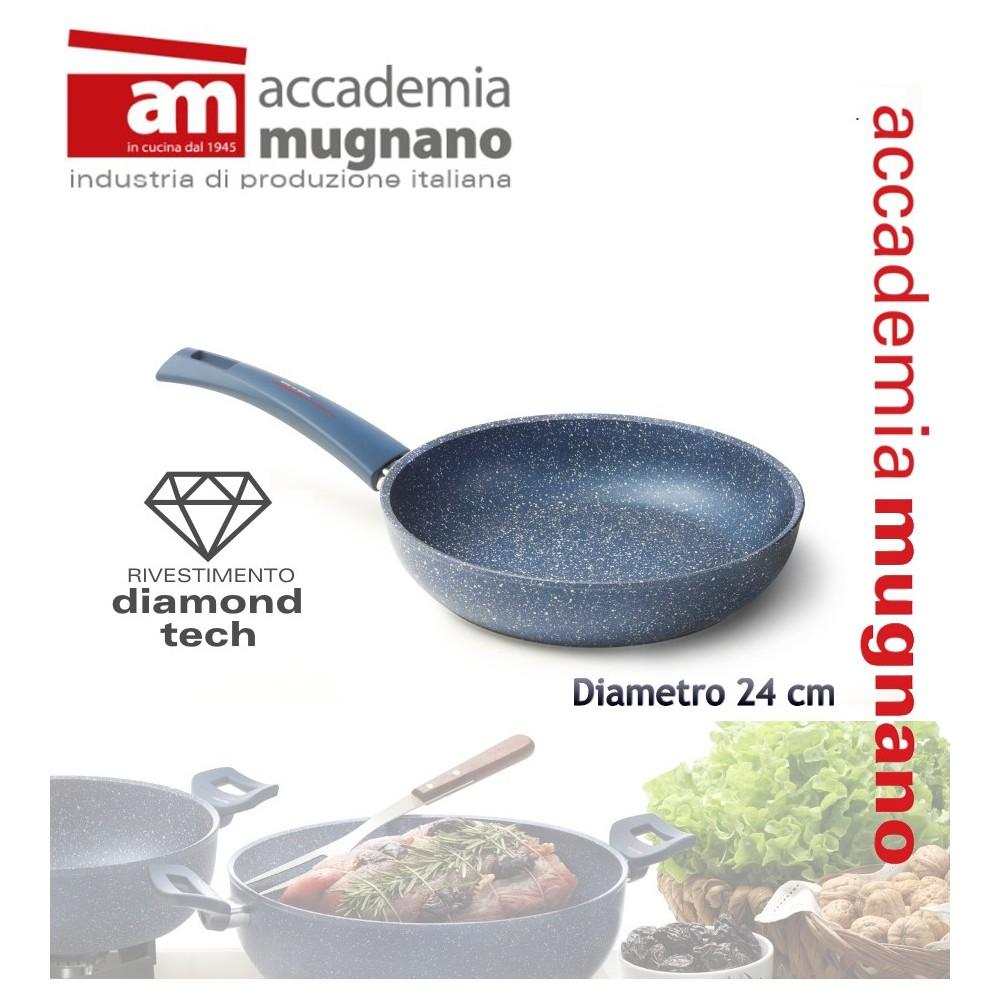 Padella antiaderente 24 cm rivestimento Diamond Tech effetto pietra Accademia Mugnano GRANITO BLU