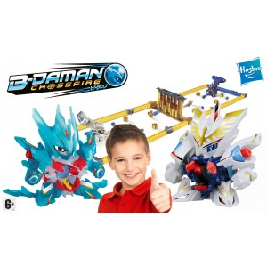 B-Daman break bomber battlefield con 2 personaggi e playset bambino break arena super set Hasbro