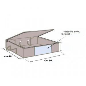Contenitore SOTTOVUOTO salvaspazio sottoletto in tnt 80x40x15 cm con manico cambio stagione WELKHOME