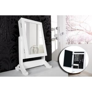 Specchio Portagioie SHABBY CHICK oraganizzatore gioielli moderno ed elegante 37 x 19 cm