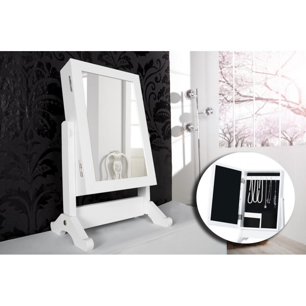 Armadietto portagioie con Specchio JEWELLERY CABINET organizzatore gioielli moderno ed elegante 37 x 19 cm