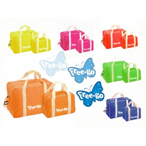 Set 2 borse termiche  FREE-GO vari colori con manici per trasporto contenitore frigo