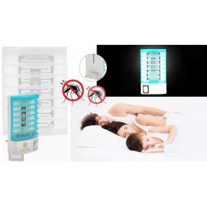 Antizanzare elettrico 4 led dispositivo insetticida luce uv a corrente 220 v