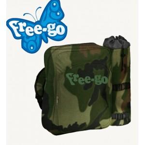 Zaino con portabottiglie termico FREE-GO fantasia militare Camouflage borsa frigo e portavivande