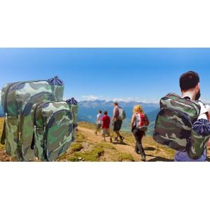 Zaino e portabottiglia termico FREE-GO militare Camouflage borsa frigo portavivande 7 + 3 LT