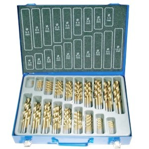 Image of Kit set punte frese per trapano 170 pezzi hss-co 8012908156378