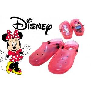 Image of Scarpe bambini sabot DISNEY MINNIE sandali con luci mare da passeggio 8054745412538