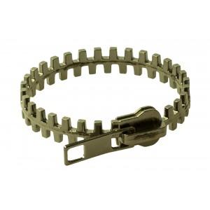 Image of Bracciale rigido a forma di cerniera originale zip bracelet in due colori trendy 8016384579560