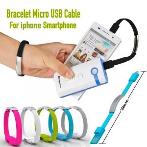Bracciale cavo dati usb compatibile iphone con funzione di caricabatteria in silicone colorato unisex