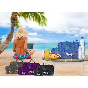 Set 2 borse termiche FREE-GO con 2 manici e tracolla  contenitore frigo FONDO MIMETICO CAMOUFLAGE