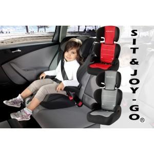 Seggiolone auto bimbi e ragazzi Gruppo II / III dai  4 ai 12 anni SIT & JOY - go SEDIOLINO REGOLABILE trasporto sicuro