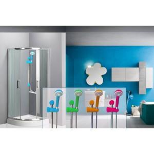 Asta saliscendi doccia regolabile 4 colori disponibili 53 cm colonnina universale con doccino monogetto rilux