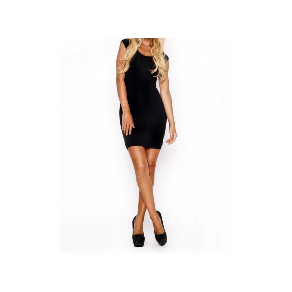 timeless design 6b466 1e7a4 Vestitino donna nero retro strisce multicolore mod. Alameda ...