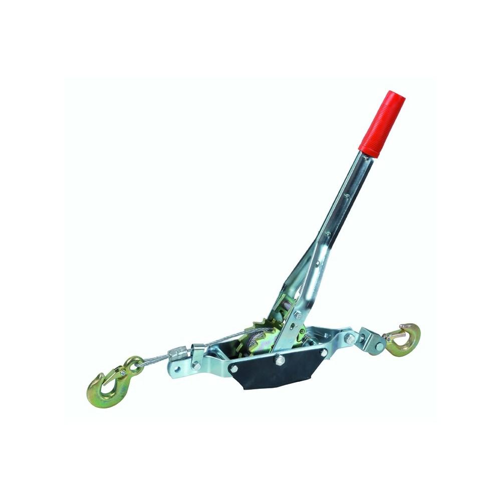 Paranco montacarichi verricello manuale 4 ton max cavo acciaio 80 cm