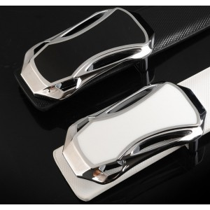 Cintura uomo MWS AHEAD modello Anyway in cuoio con fibbia a gancio in argento diverse misure