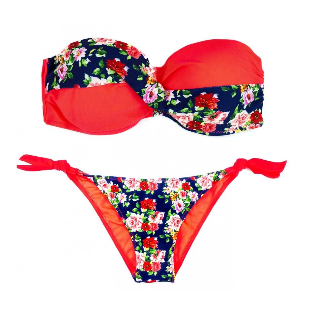 A8912 Costume bikini mod. BLUEMARY  in due pezzi con coppe imbottite