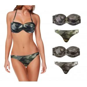 DW8857 Costume bikini mod. MEYTAL fantasia Camo e coppe imbottite