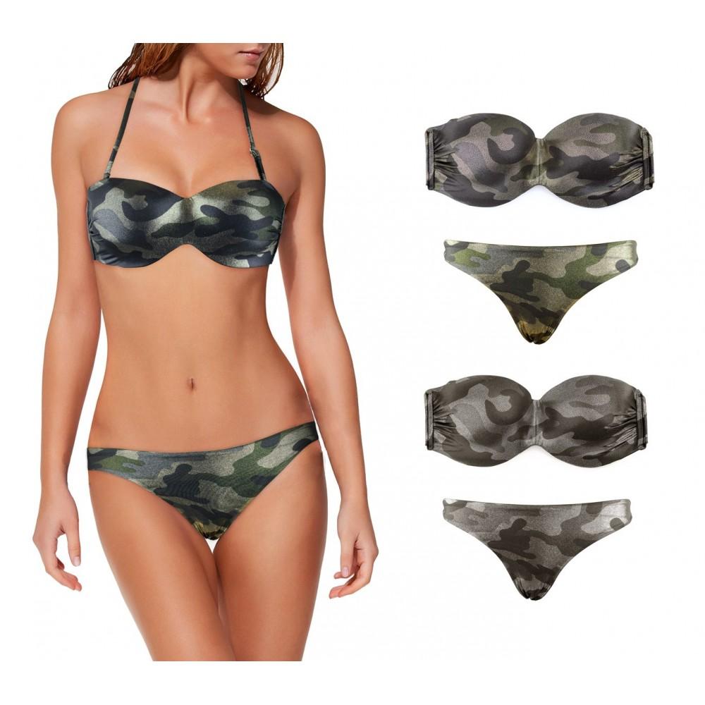 Costume DW8857 bikini mod. MEYTAL fantasia Camouflage e coppe imbottite