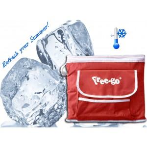 Image of Borsa termica a baule rettangolare L35 x H30 x P24 cm FREE-GO con tracolla capacità 25 litri 8016375473433