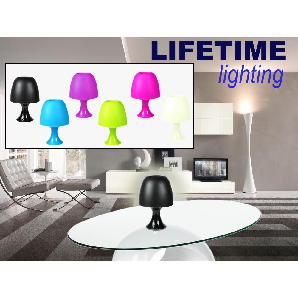 Lampada da tavolo LIFETIME lighting paralume in plastica colorata luce decorativa atmosfera relax