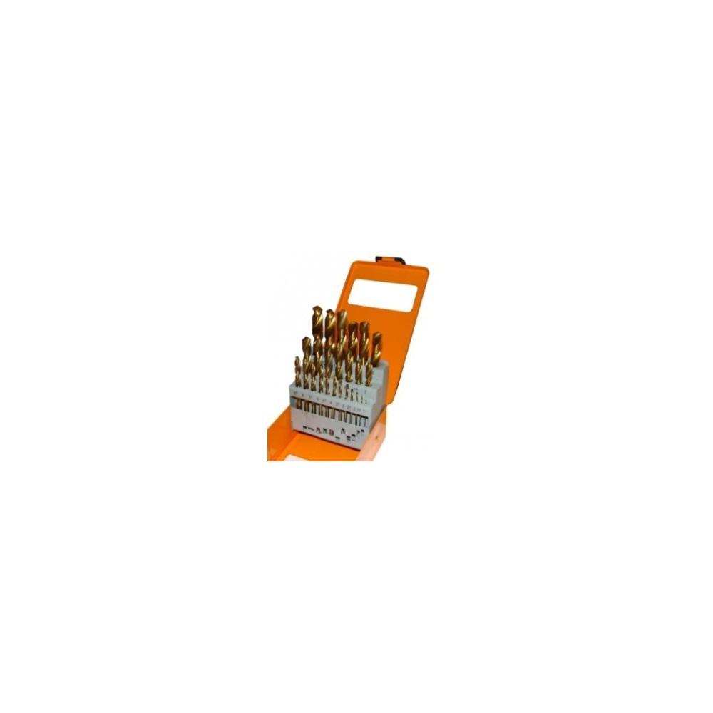 Punte trapano in lega titanium dorate 25 pezzi utensili