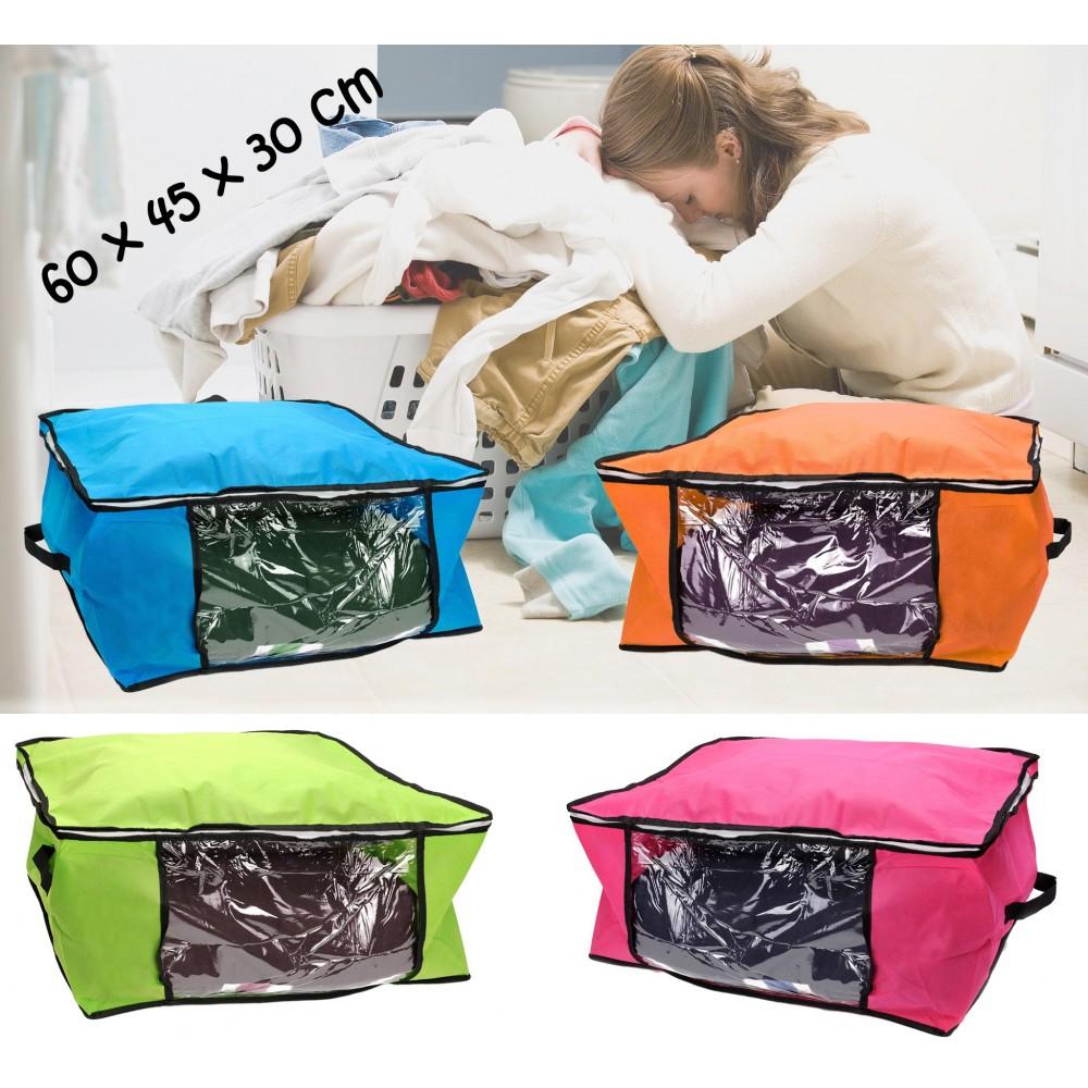 Organizzatore salvaspazio 60 x 45 x 30 cm per vestiti cambio stagione sottoletto storage box