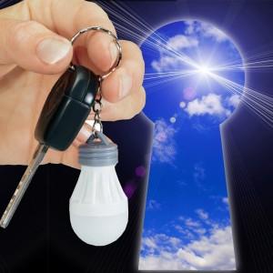 Piccola lampada a LED a risparmio energetico portachivi con anello design bulbo