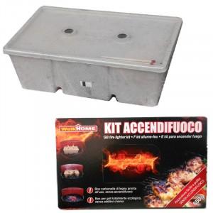 Kit accendifuoco ecologico facile veloce e pulito senza additivi chimici confezione 850 gr