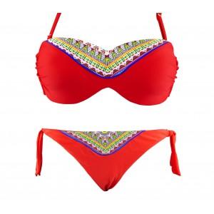 Image of Costume bikini CY9927 mod. NICLA due pezzi coppe imbottite fantasia geometrica 8435524517451