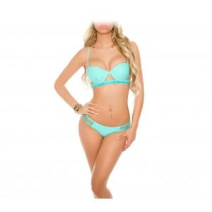 H2832 Costume bikini mod. CROCHET  in due pezzi con coppe imbottite