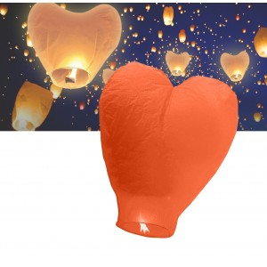 Lanterna a forma di cuore volante love lanterns colorate diametro 34 cm crea una magica atmosfera