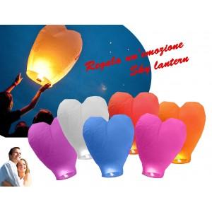 Lanterna a forma di cuore volante colorate diametro 34 cm magica atmosfera