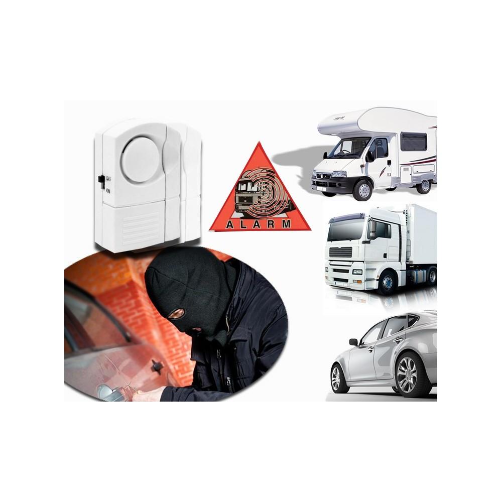 Mini allarme 2 pz portiera auto camper camion universale funzione antifurto senza fili 100 db