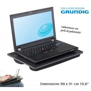 Laptop desk GRUNDIG con cuscino supporto notebook portatile morbida imbottitura con perle di polistirolo