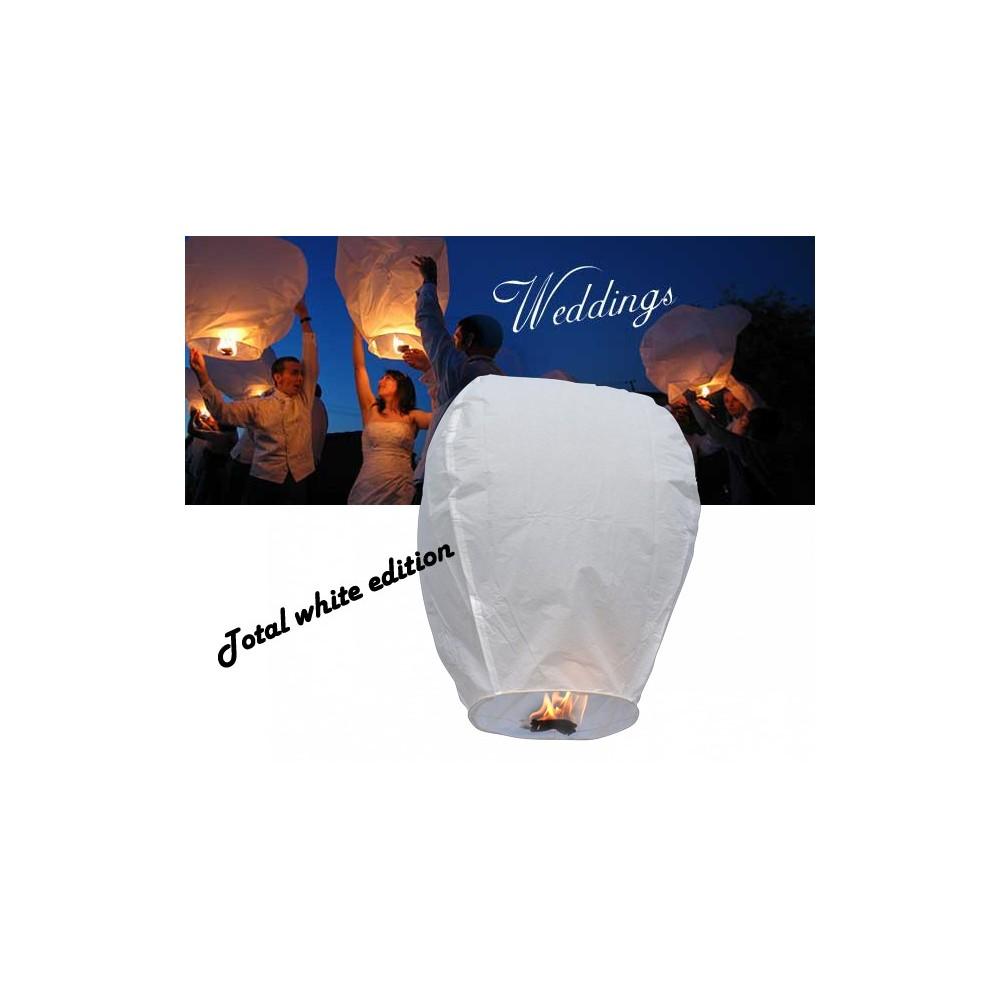 Lanterna volante bianco total white wedding lanterns mongolfiere volanti 33 cm