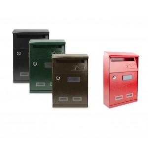 Cassetta Postale in lamiera Superior con targhetta e sportello superiore 064425