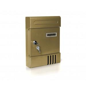 Cassetta Postale in lamiera Warik con targhetta e fessura automatica 065064