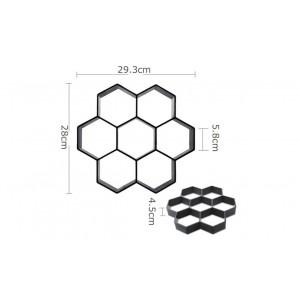 Stampo per pavimentazione a forma esagonale per creare ciottoli fai da te