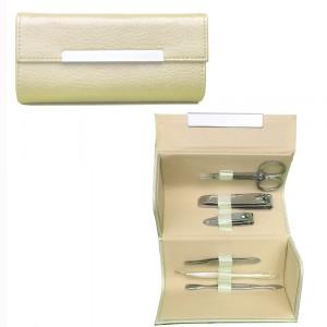 Image of Cofanetto richiudibile 7 pezzi manicure pedicure forbici tagliaunghie pinzetta 8015354904845