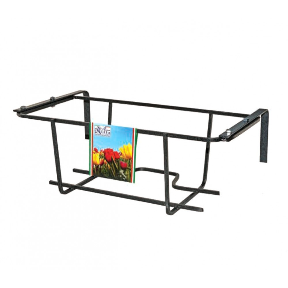Fioriera balconiera TULIPANO 22x50x18 cm ARTIGIAN FERRO Art 750.B regolabile