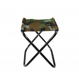 Sgabello piegevole EVERTOP 288351 camouflage per campeggio montagna mare